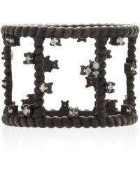 Nancy Newberg - Oxidized Silver Diamond Cage Ring - Lyst