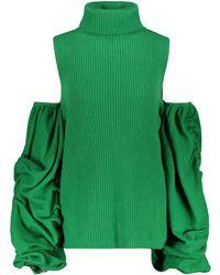Tuinch - Cold Shoulder Cashmere Jumper - Lyst