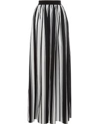 Blugirl Blumarine - High Waisted Striped Maxi Skirt - Lyst