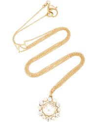 Renee Lewis - Shake 18k Gold Diamond And Pearl Necklace - Lyst