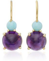 Daria de Koning - Dagny Tiny Two Stones 18k Gold Earrings - Lyst