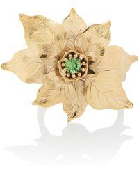 Rodarte   Gold Poinsettia Expandable Bracelet With Swarovski Crystal Detail   Lyst