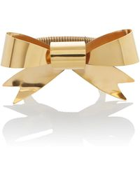 Rodarte - Gold Bow Expandable Bracelet - Lyst