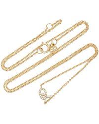 Sydney Evan - 14k Gold Diamond Initial Necklace - Lyst