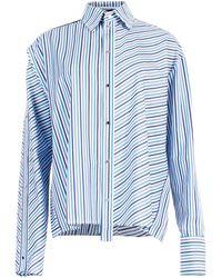 ANOUKI - Striped Cutout Shirt - Lyst