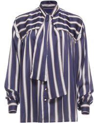 Dalood - Split Sleeve Bow Tie Shirt - Lyst