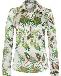 Adriana Iglesias - Marianne Printed Silk Shirt - Lyst