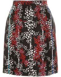 Bibhu Mohapatra - Printed Duchess Mini Skirt - Lyst