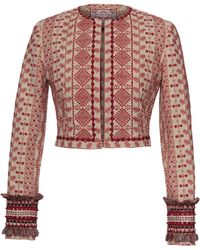 Lena Hoschek - Balázs Cropped Embroidered Jacket - Lyst