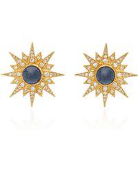 Arman Sarkisyan - Blue Sapphire Starburst Studs - Lyst