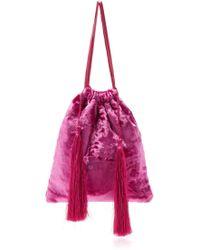 Attico - Velvet Pouch Bag - Lyst