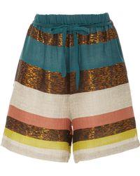 A Peace Treaty - Tomar Striped Shorts - Lyst