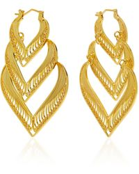Mallarino | Kora Sterling Silver And 24k Gold Vermeil Earrings | Lyst