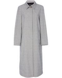 Laura Urbinati - Cotton Plaid Spring Coat - Lyst