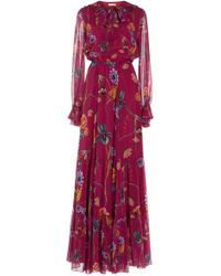 Anna Georgette Tiered Maxi Dress Borgo De Nor 8eOUOC1u0