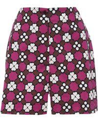 Laura Urbinati - Printed Poplin Shorts - Lyst