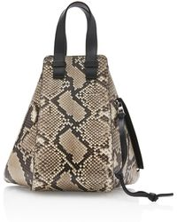 Loewe - Hammock Small Leather-trimmed Python Bag - Lyst 74e2572276d81