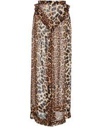 Rodarte - Leopard Print Silk Pant - Lyst