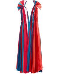 Prabal Gurung - V-neck Pleated Dress - Lyst