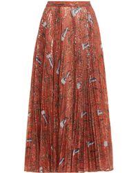 Claudia Li - Pleat On Pleat Print Skirt - Lyst