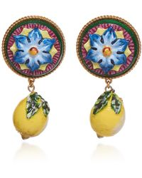 Dolce & Gabbana - Lemon Drop Earrings - Lyst