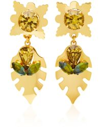 Nicole Romano - Covell 18k Gold-plated Leaf Earrings - Lyst
