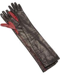 Maison Margiela - High Leather Two Tone Glove - Lyst