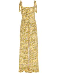 Faithfull The Brand Frankie Floral-print Cropped Jumpsuit