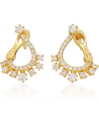 Colette - Entwined 14k Gold And Diamond Earrings - Lyst