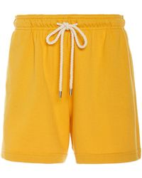 Monse - Terry Mid-length Cotton Shorts - Lyst