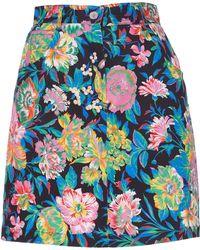MSGM - Tropical Jungle Print Mini Skirt - Lyst