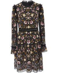 Needle & Thread - Marella Floral-embroidered Mini Dress - Lyst