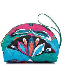 Emilio Pucci - Quilted Silk Twill Cosmetics Case - Lyst