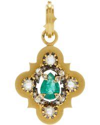 Sylva & Cie - 18k Gold, Diamond And Emerald Charm - Lyst