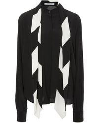 Givenchy - Scarf Neck Long Sleeve Crepe De Chine Blouse - Lyst