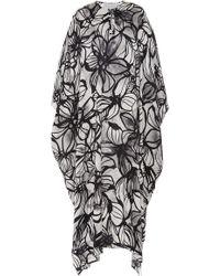 Marie France Van Damme - Floral-print Silk-satin Kaftan - Lyst