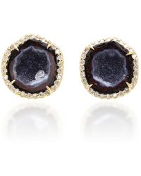 Kimberly Mcdonald - 18k Gold, Diamond And Blue Geode Earrings - Lyst