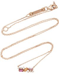 Suzanne Kalan - 18k Rose Gold Sapphire And Diamond Necklace - Lyst