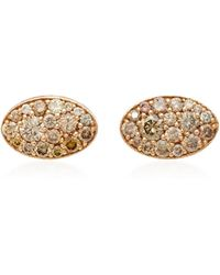 Colette | Baby Les Chevalieres 18k Rose Gold Diamond Earrings | Lyst