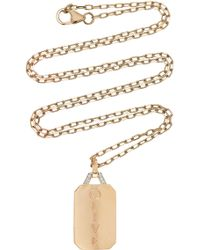 WALTERS FAITH - M'onogramable Dora Tablet Pendant Necklace - Lyst