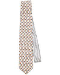 Prada - Printed Silk Tie - Lyst