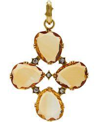 Sylva & Cie - 18k Gold, Citrine And Diamond Charm - Lyst