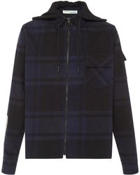 Off-White c/o Virgil Abloh - Hooded Cotton-flannel Shirt - Lyst