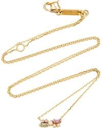 Suzanne Kalan - 18k Yellow Gold, Diamond And Sapphire Necklace - Lyst