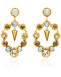 Nicole Romano - Palmer 18k Gold-plated Crystal Earrings - Lyst