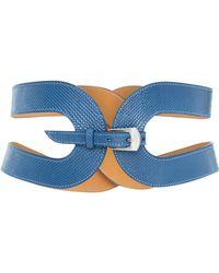 Maison Vaincourt - Exclusive The Cage Snake Skin Waist Belt - Lyst