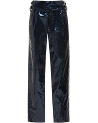 Isabel Marant - Ennya Coated Cotton And Linen-blend Skinny Trousers - Lyst