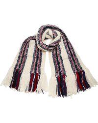 Tory Burch - Crochet Stripe Pocket Scarf - Lyst