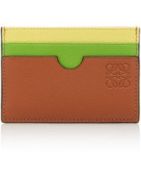 Loewe - Multicolored Leather Card Holder - Lyst