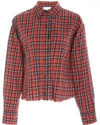 Current/Elliott - The Tella Plaid Shirt - Lyst